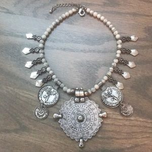 Free People statement coin necklace